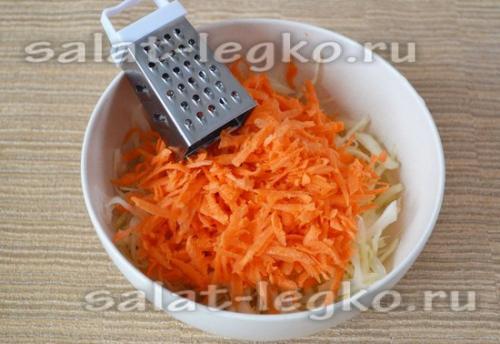 Салат из капусты, как в садике. Салат из капусты с морковью как в столовой