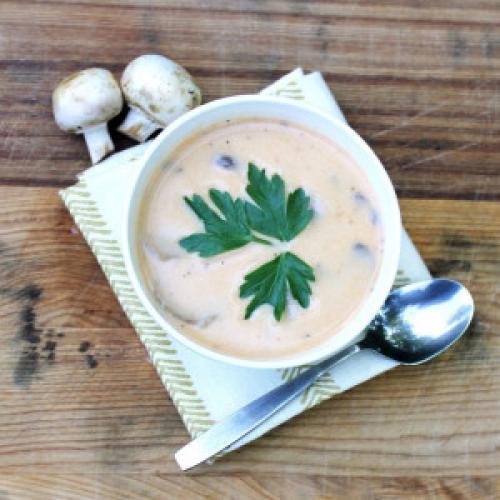 Низкокалорийный грибной суп-пюре. Грибной суп-пюре из шампиньонов – вкусно и полезно