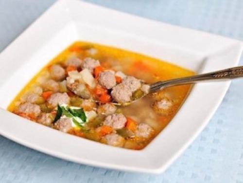 Суп с фрикадельками по Дюкану Атака. Суп с фрикадельками рецепт по Дюкану