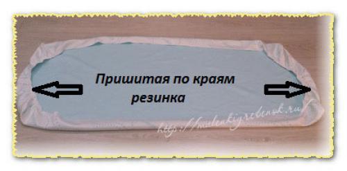 Как сшить простынь на резинке в детскую кроватку. Пробуем сшить простынь на резинке в детскую кроватку