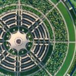 Планировка идеального города, разработанная Жаком фреско.