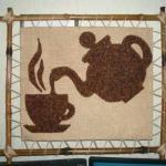 Ароматные картины из кофейных зерен.