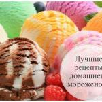 Лучшие рецепты домашнего мороженого.