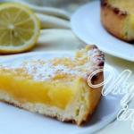 Лимонный пирог. Ингредиенты: