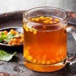 Облепиховый чай.  Облепиха - это кладезь витаминов.