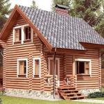 Эскиз проекта деревянного дома.