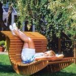 Кресло - качалка для сада своими руками.