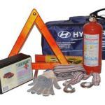 Отсутствие аптечки, огнетушителя или знака аварийной остановки.