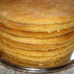 Как быстро приготовить коржи для торта.