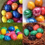 Как необычно покрасить яйца к пасхе.