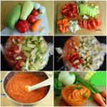 Кабачковая икра в рукаве с морковью и луком.
