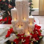 Новогодние свечи из картонных втулок.