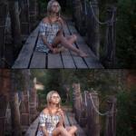 Фото до и после обработки.