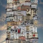 """Французский фотохудожник образует причудливые дома из домов, которые называет """"Вавилоны""""."""