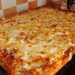 Быстрая пицца на противне.